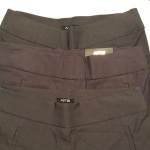 Apt Nine Grey Capri/Cropped pants